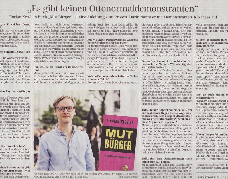 Süddeutsche Zeitung, Februar 2013