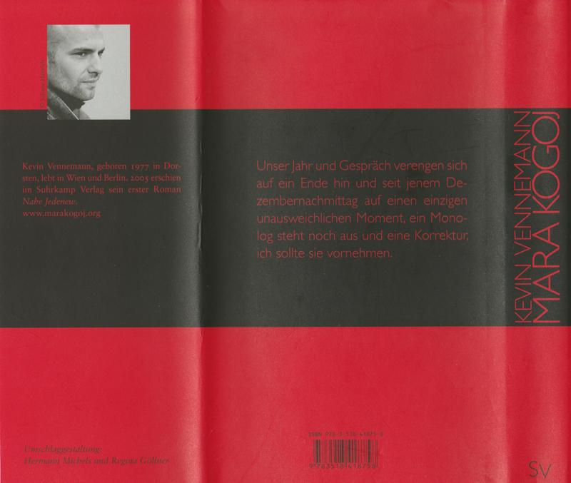 """Autorenfotos von Kevin Vennemann für den Roman """"Mara Kogoj"""", erschienen im Suhrkamp Verlag 2007"""